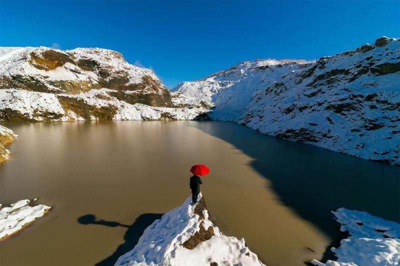Fotoğrafçı Ramazan Çirakoğlu'nun Kırmızı Göl isimli çalışması. dünya meteoroloji örgütü