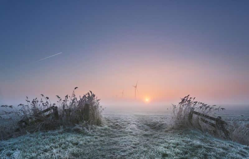 Dünya Meteoroloji Örgütü'nün 2020 Takvimi için seçilen Anna Zuidema'nın Sisli Bir Sabah isimli fotoğrafı.