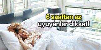 6 saatten az uyumak kanser riskini artırıyor!