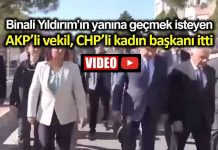 AKP milletvekili savaş binali yıldırım öne geçmek için CHP li Aydın Belediye Başkanı özlem Çerçiloğlu nu itti video