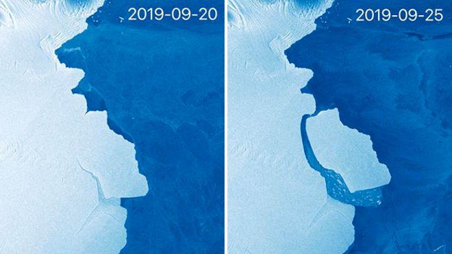 antarktika buzul kopması