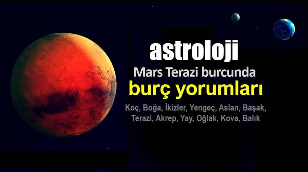 Astroloji: Mars Terazi burcunda burç yorumları