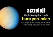 Astroloji: Venüs Akrep burcunda (8 Ekim - 11 Kasım) burç yorumları