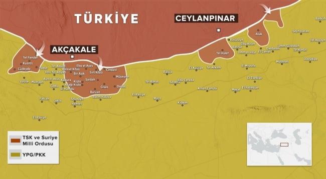 barış pınarı harekatı harita