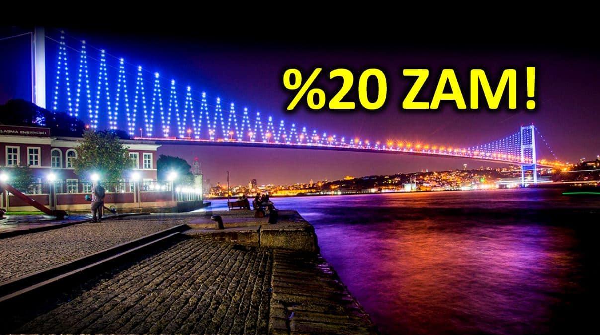 Boğaz köprüleri ve otoyol geçiş ücretlerine yüzde 20 zam!