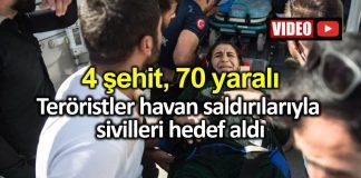Ceylanpınar, Akçakale, Birecik, Nusaybin havan saldırısı: 4 şehit ve 70 yaralı