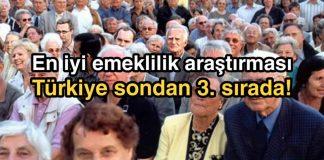 En iyi emeklilik sıralamasında Türkiye sondan 3'üncü; Hollanda zirvede