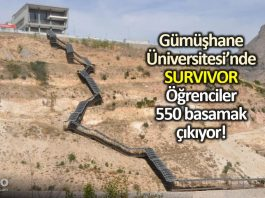 Gümüşhane Üniversitesi nde Survivor: Öğrenciler 550 basamak çıkıyor!