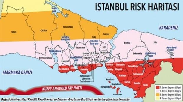 istanbul deprem haritası