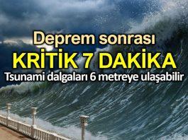 İstanbul depreminde kritik 7 dakika: Tsunami 6 metreye ulaşabilir