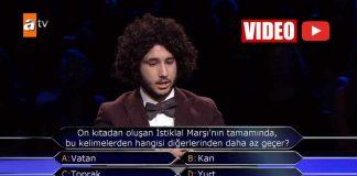 Kim Milyoner Olmak İster 1 milyon liralık soruya doğru cevap verdi