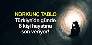 türkiye intihar verileri istatistikleri