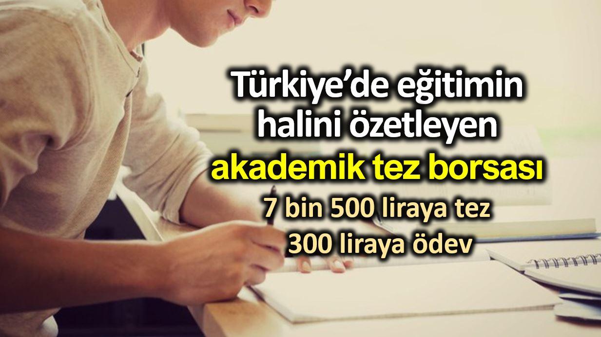 Akademik tez borsası: 7 bin 500 liraya tez parayla 300 liraya ödev