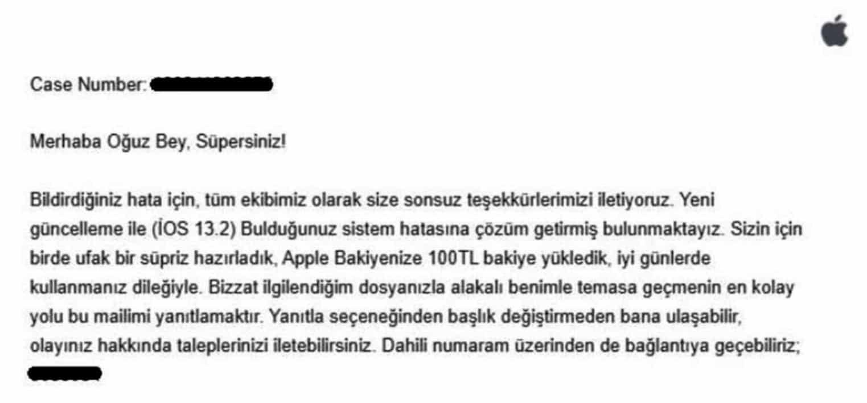 apple iphone açık para ödülü 100 lira lise öğrencisi oğuz akçay
