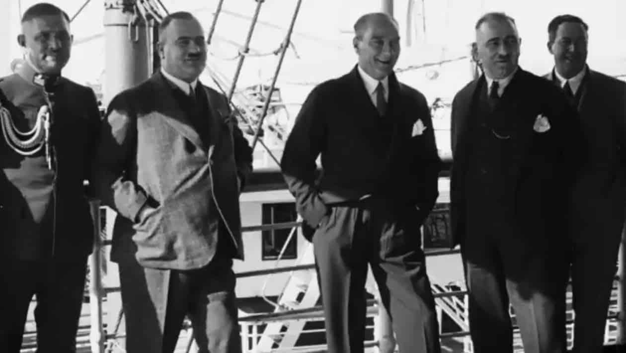 Kasım 1930 Atatürk'ün yeni görüntüleri Ege Vapuru