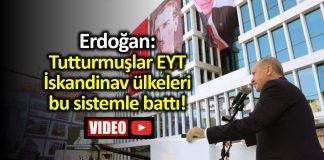 Erdoğan EYT açıklaması: Tutturmuşlar EYT. İskandinav ülkeleri bu sistemle battı!