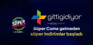 Gittigidiyor.com 21-28 Kasım Süper İndirimler kampanyası