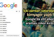 Google etil alkol araması rekor kırdı! Vatandaş kimyager oldu!