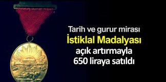 İstiklal Madalyası müzayedede 650 liraya satıldı