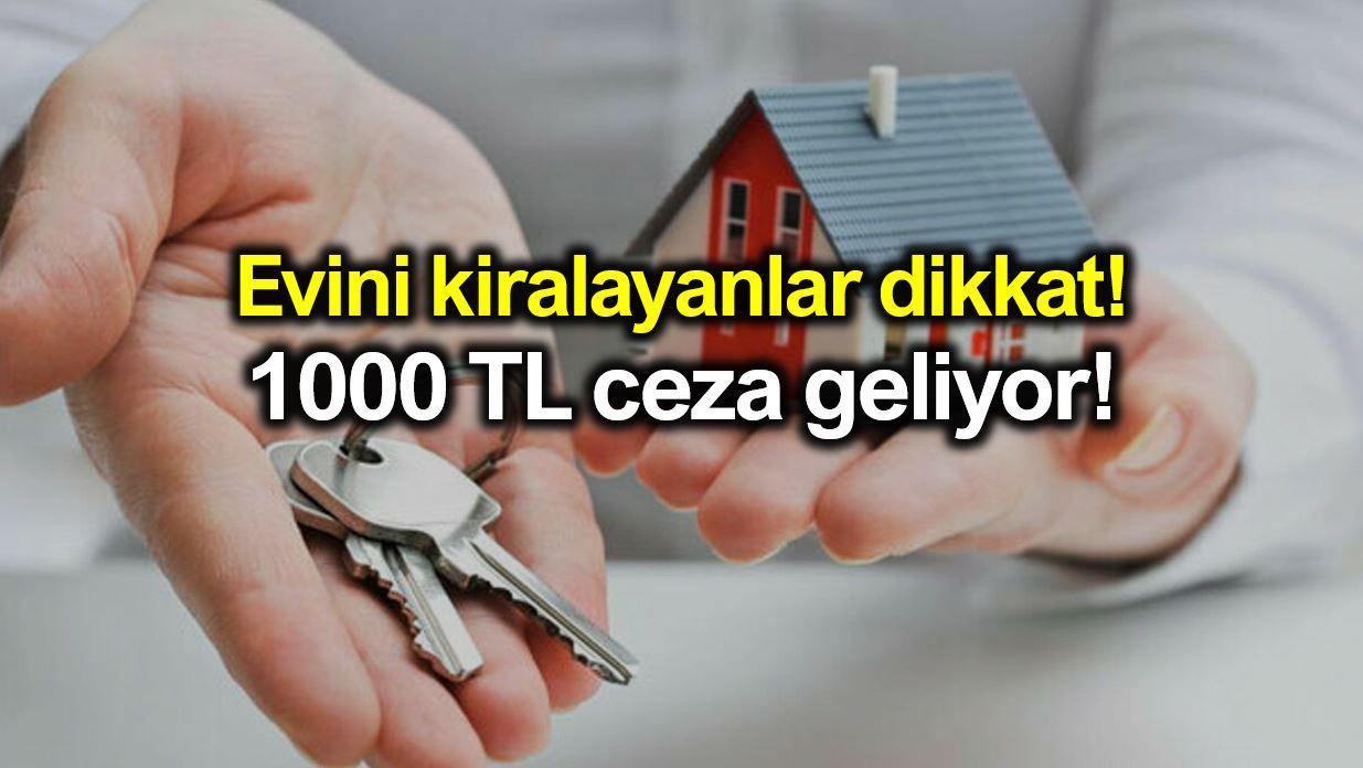 Türkiye de izni olmayan yabancıya ev kiralamaya kişi başı 1000 TL ceza