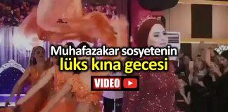 Merve gelinin lüks kınası sosyal medyada olay oldu video