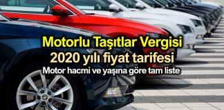 Motorlu Taşıtlar Vergisi (MTV) 2020 yılı zamlı fiyatları belli oldu!