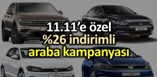n1 11.11 özel indirimli Volkswagen araba kampanyası 9 10 11 kasım