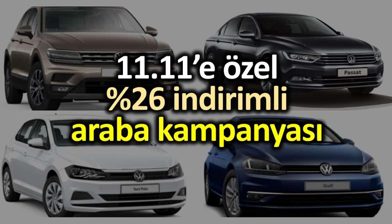 n11 araba kampanyası: 11.11 indirimi ile Volkswagen otomobiller