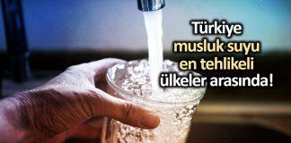Türkiye musluk suyu kalitesi giderek düşüyor!