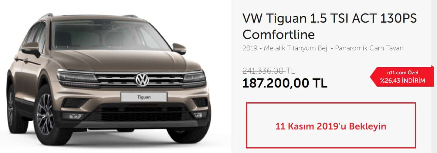 VW Tiguan 1.5 TSI ACT 130PS Comfortline