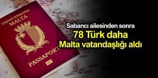 78 Türk iş insanı daha Malta vatandaşlığına geçti!