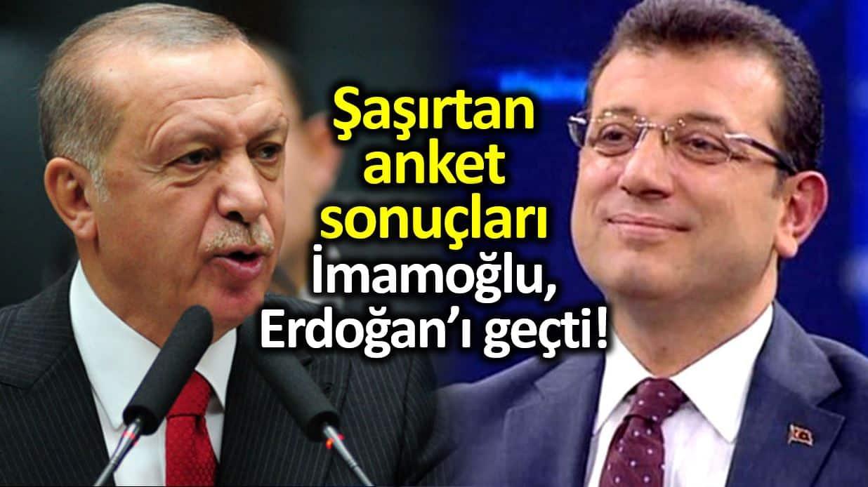 Cumhurbaşkanlığı seçim anketi: Ekrem İmamoğlu, Erdoğan ı geçti