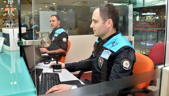 polis 3 bin personelle pasaport kontrol hizmeti veriliyor