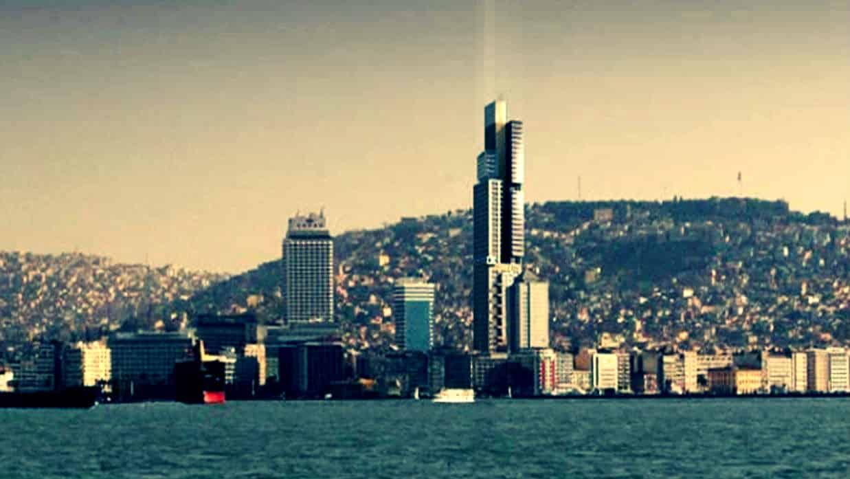 İzmir Konak'ta Zorlu'nun 250 metrelik gökdelen inşaatı başladı