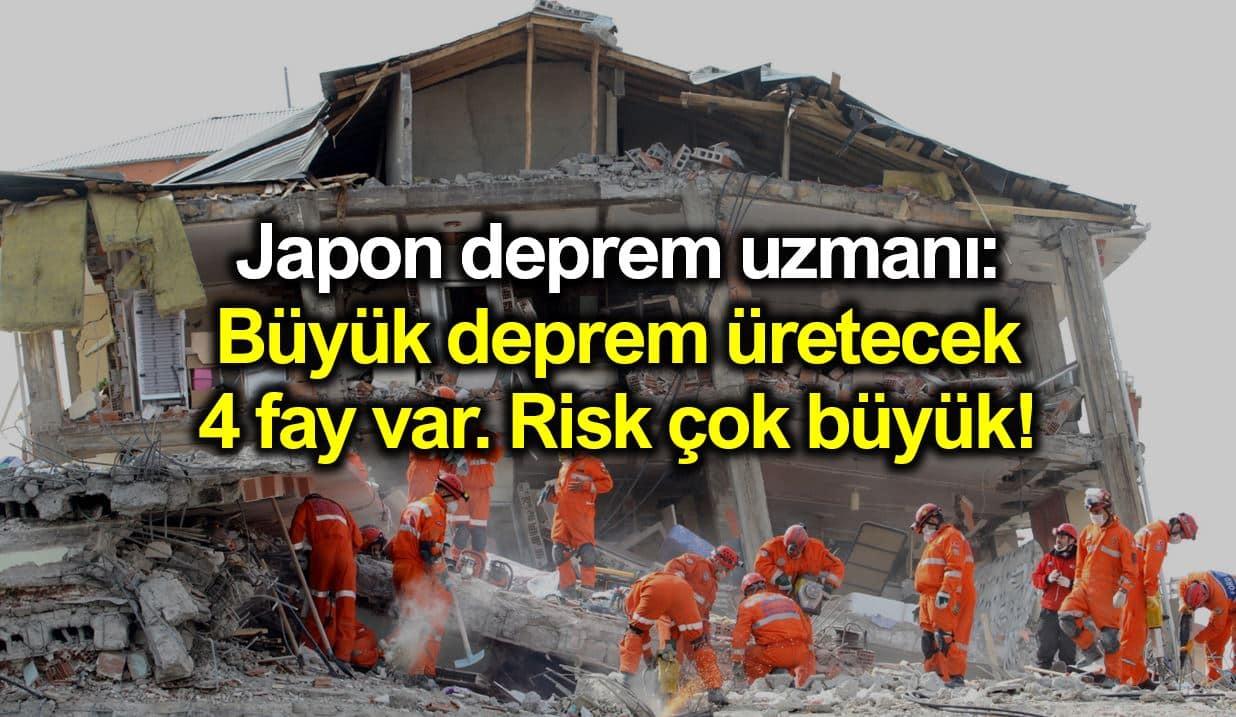 Japon uzman: Marmara'da büyük deprem üretecek 4 fay var!