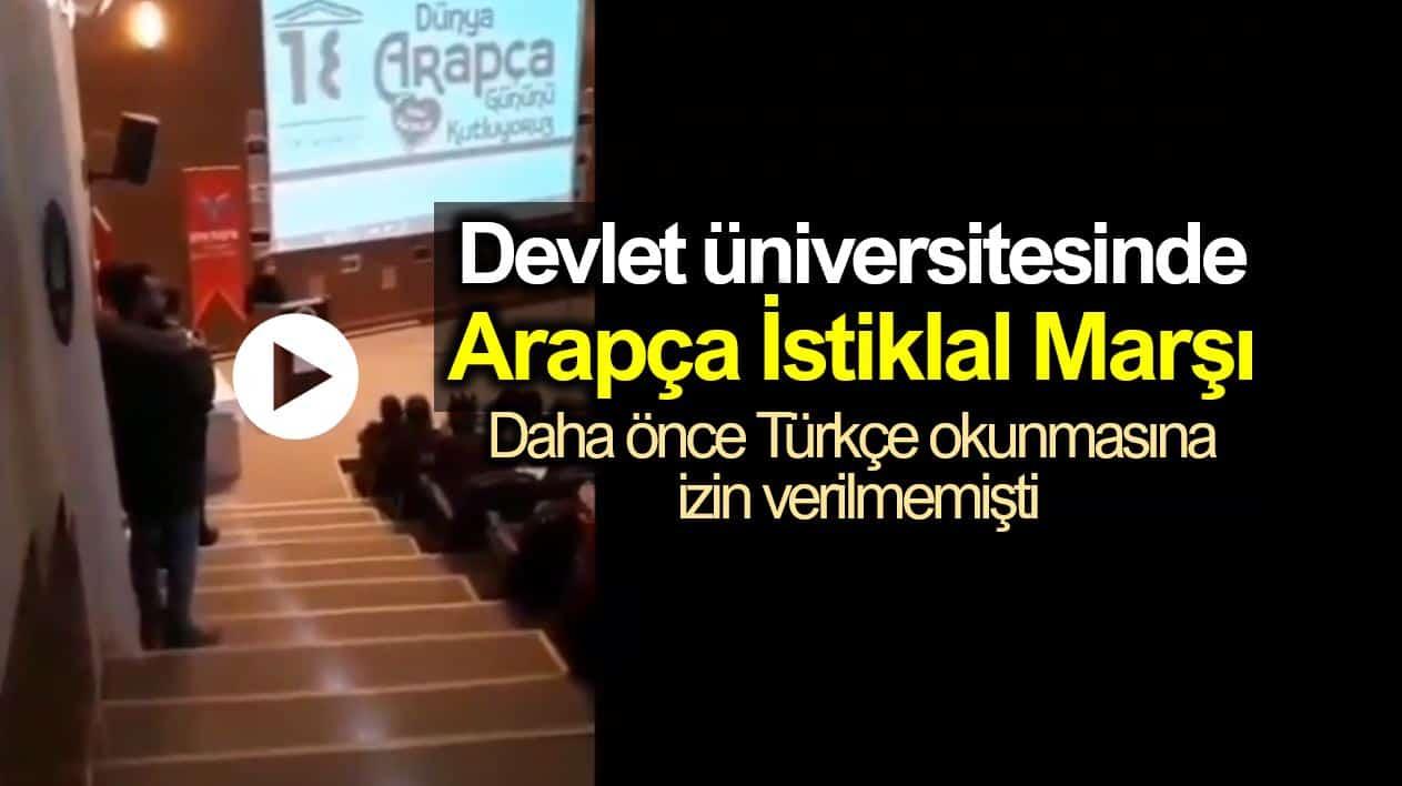 Kırıkkale Üniversitesi Arapça İstiklal Marşı krizi
