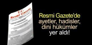Resmi Gazete de ayet hadis dini hükümler: Allah-u Teala korkusu