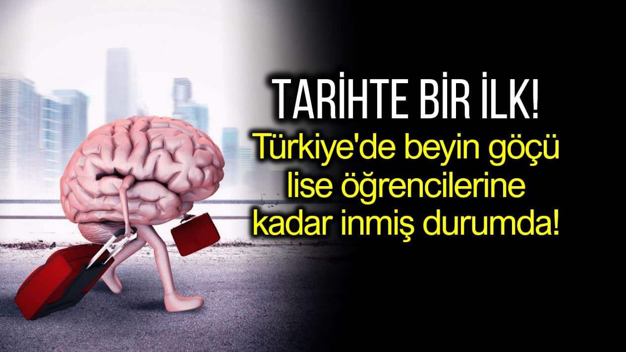 Türkiye beyin göçü ilk kez lise seviyesine inmiş durumda!