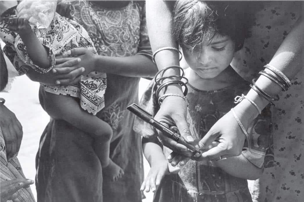 Şekil 6: Ben Aşılandım polio çocuk felci birleşmiş milletler