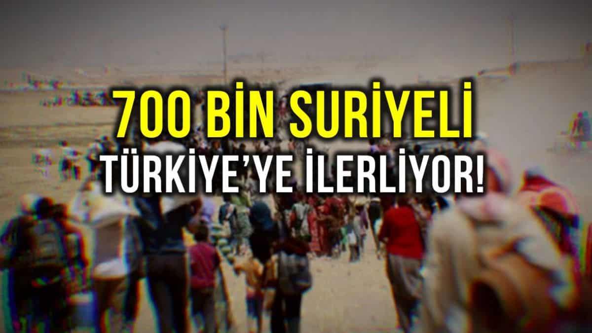 ABD açıkladı: 700 bin Suriyeli Türkiye ye doğru ilerliyor