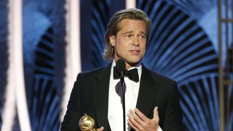 Brad Pitt golden globe altın küre