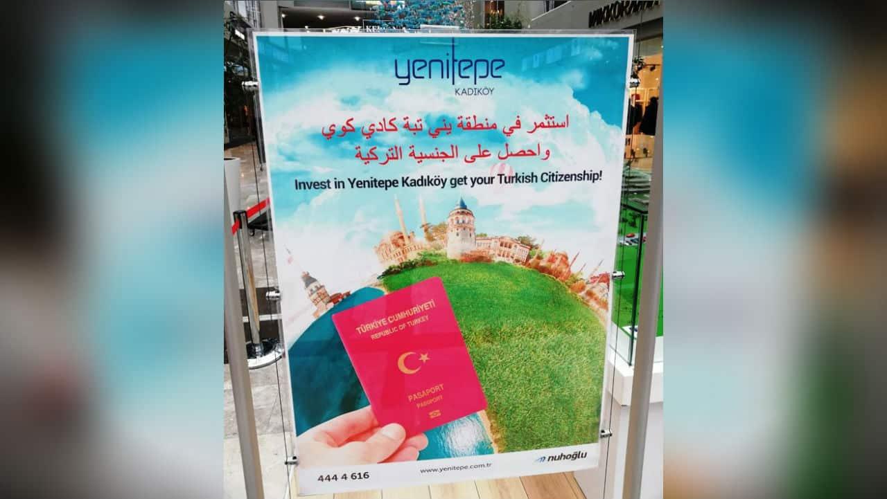 AVM Arapça satılık Türk vatandaşlığı reklam afişi yenitepe kadıköy nuhoğlu