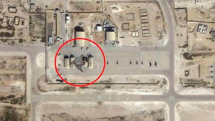İran'ın ABD üssüne saldırısının uydu görüntüleri
