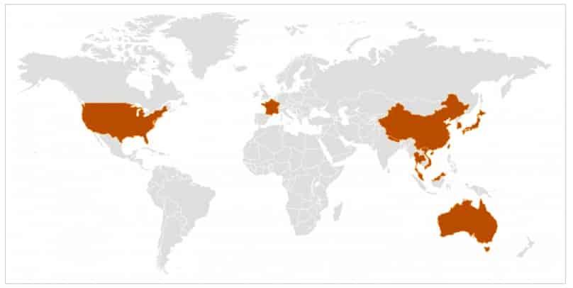 corona virus yayılım haritası