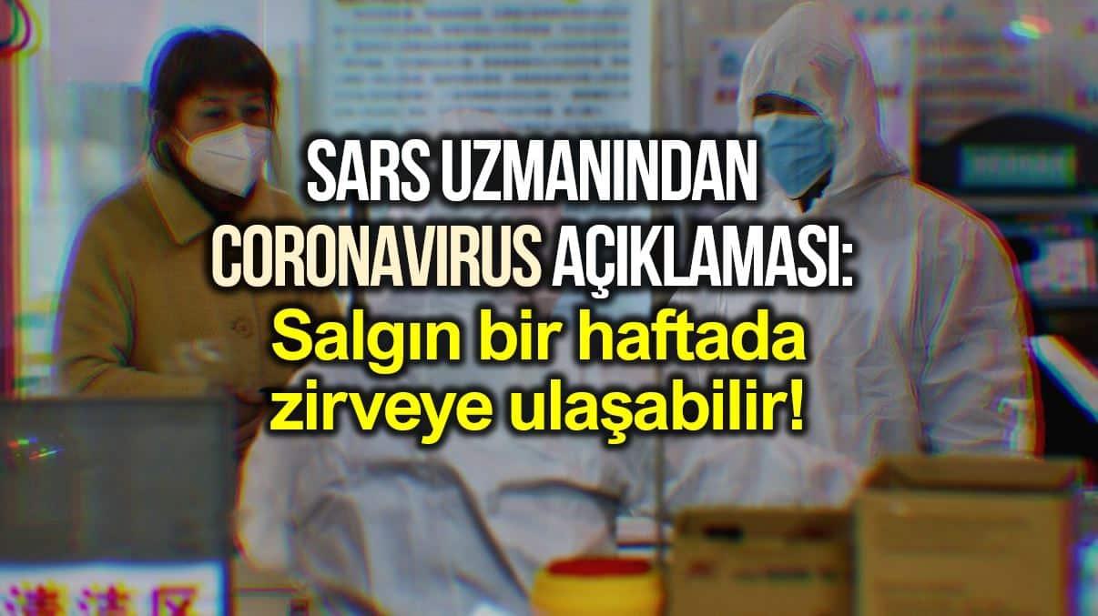 Coronavirus açıklaması: Salgın bir haftada zirveye çıkabilir!
