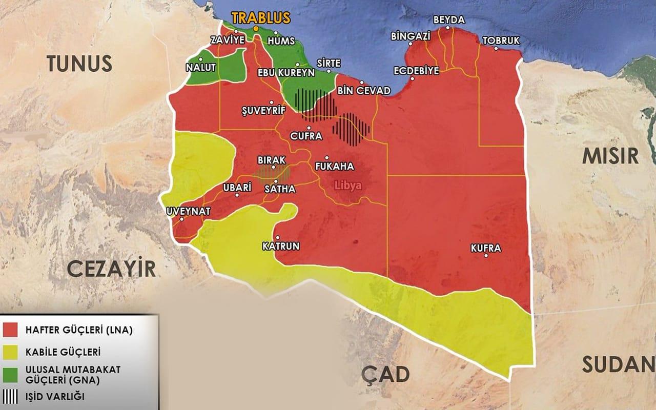 hafter güçleri harita