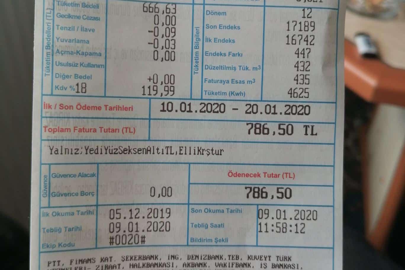doğalfaz faturası