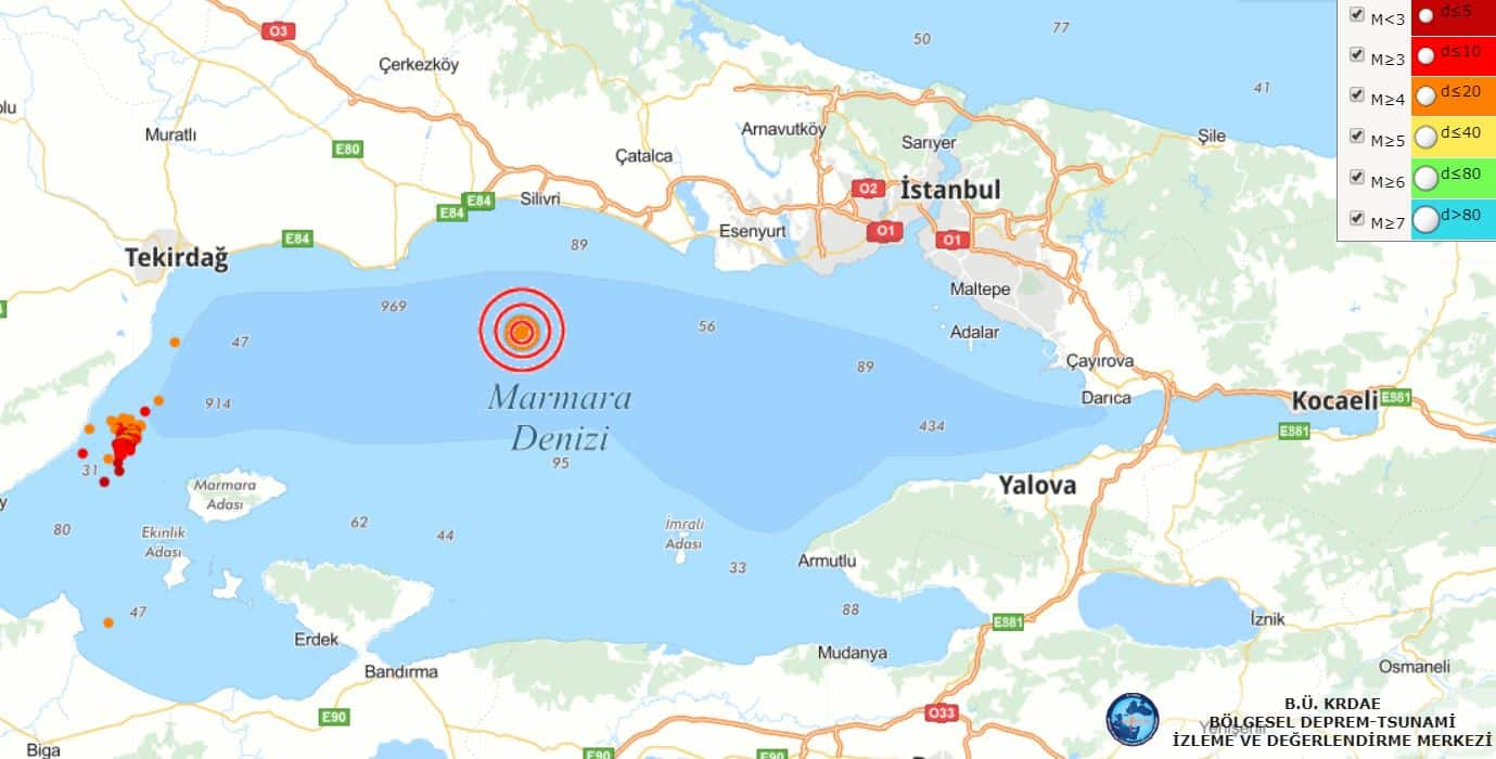 istanbul deprem kandilli afad