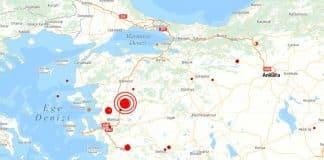 Manisa da 5,4 büyüklüğünde deprem meydana geldi