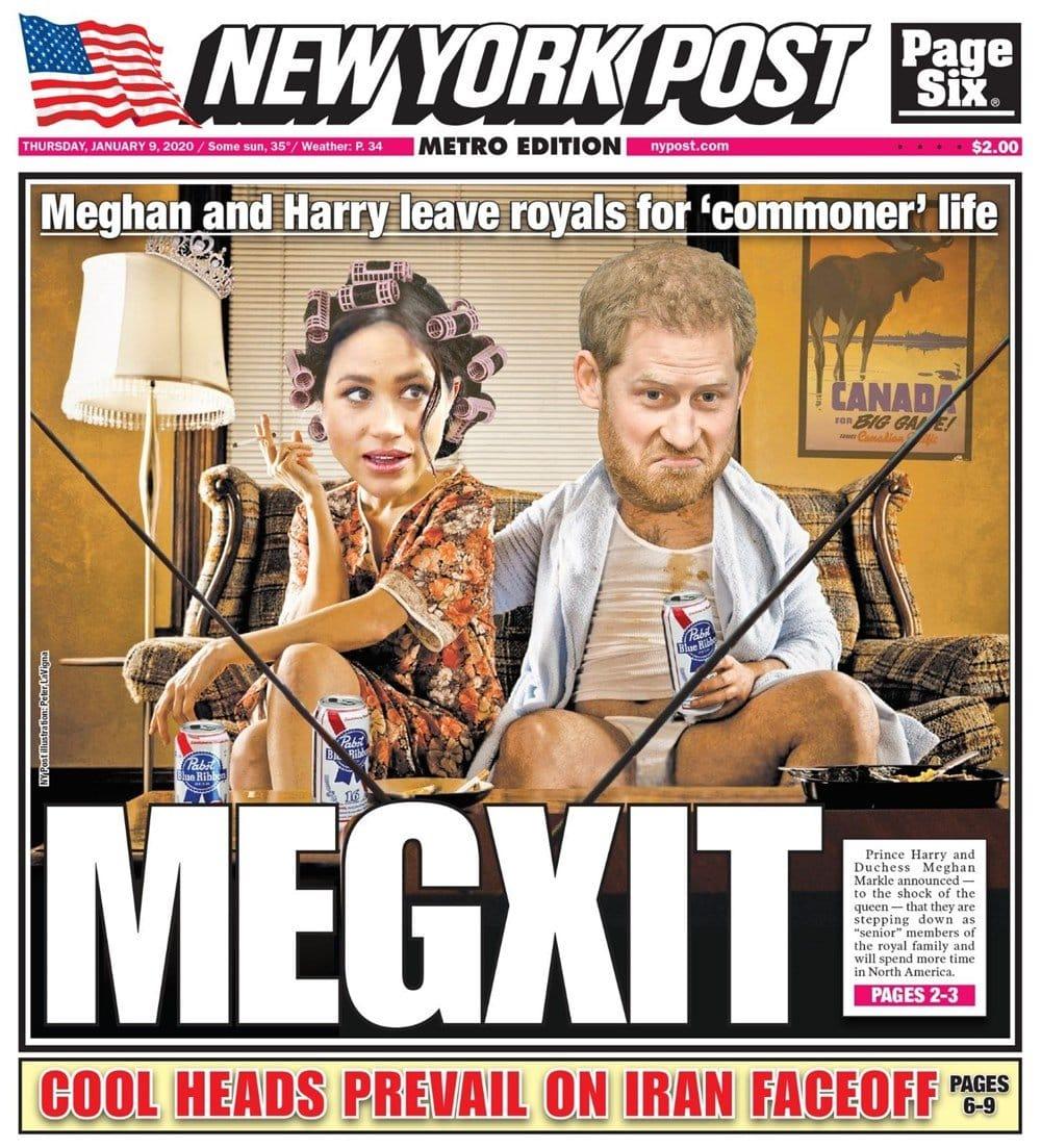 New York Post gazetesi kapak sayfası megxit
